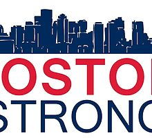 Boston Strong - Skyline Graphic Design by Four4Life
