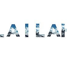 Personalised Name on White - Swiss Alps by cempakabali