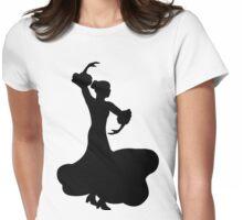 Flamenco Dancer Womens Fitted T-Shirt