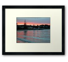 Evening at the Beach, Penguin, Tasmania, Australia. Framed Print