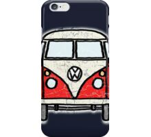 Red White Campervan Worn Well iPhone Case/Skin
