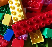 colourful building blocks for laptop by AllThingsNice