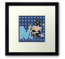 m for magician Framed Print
