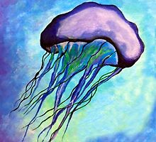 Jellyfish in Purple by artinsoulorg