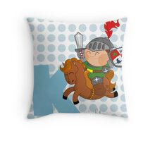 k for knight Throw Pillow