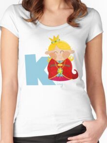 k for king Women's Fitted Scoop T-Shirt