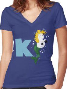 k for kelpie Women's Fitted V-Neck T-Shirt
