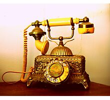 Antique Call... South Africa (Antique Telephone) Photographic Print