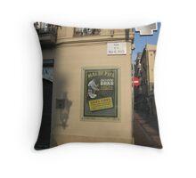 Sign, Placa de la Vila de Gracia, Barcelona Throw Pillow