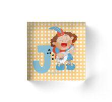 j for jongleur Acrylic Block
