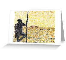 Aborigine with fighting stick Greeting Card