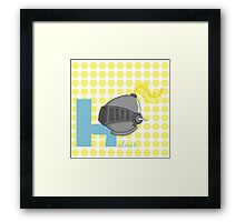 h for helmet Framed Print