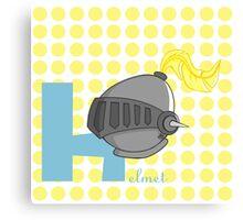 h for helmet Canvas Print