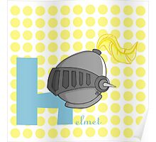 h for helmet Poster