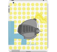 h for helmet iPad Case/Skin
