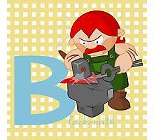 b for blacksmith Photographic Print