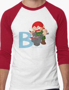 b for blacksmith Men's Baseball ¾ T-Shirt