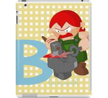 b for blacksmith iPad Case/Skin