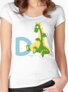 d for dragon Women's Fitted Scoop T-Shirt