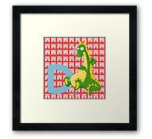 d for dragon Framed Print
