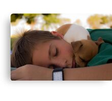 When playing make us tired... Canvas Print