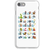 ABC medieval (spanish) iPhone Case/Skin