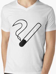 Smoking Symbol Mens V-Neck T-Shirt