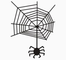 spider web with spider Kids Clothes