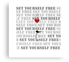 Set yourself free Canvas Print
