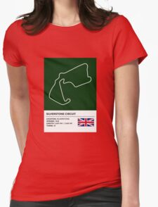 Silverstone Circuit - v2 Womens Fitted T-Shirt
