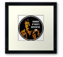 Zap Rowsdower - Quote - I wonder if there's beer on the sun - Quote Framed Print