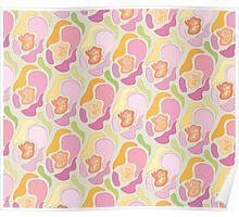 Classical floral pattern with abstract shapes. Poster