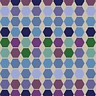 Berry cool colours hexagon quilt by goanna