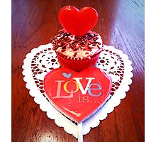 """""""Love Is A Cupcake"""" Photographic Print"""