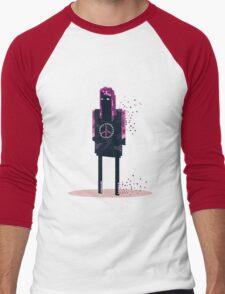 Pink Men's Baseball ¾ T-Shirt