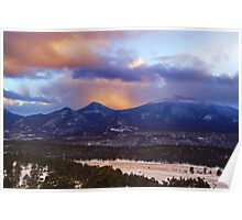Dusk Over The Rockies Poster