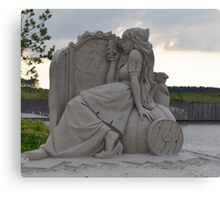 Princess sand sculpture Canvas Print