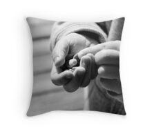 Pebbles - A Child's Treasure Throw Pillow