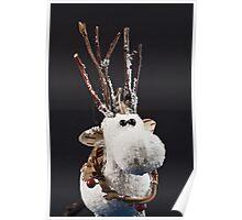 White Reindeer Poster