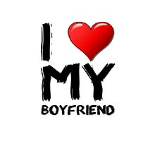 I love (heart) my boyfriend Photographic Print