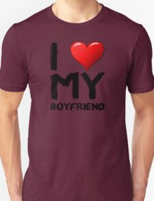 I love (heart) my boyfriend T-Shirt