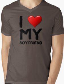 I love (heart) my boyfriend Mens V-Neck T-Shirt