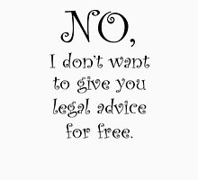 No I dont want to give you legal advice for free Womens Fitted T-Shirt