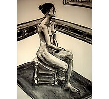 seated woman 3 Photographic Print
