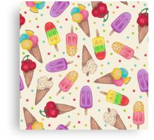 I scream for Icecream! Reprise Canvas Print