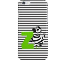 z for zebra iPhone Case/Skin