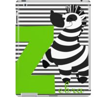 z for zebra iPad Case/Skin