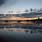 Reflections At Bosham Harbour by Jane Burridge