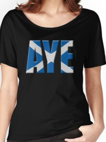 Scottish flag Vote Aye Women's Relaxed Fit T-Shirt