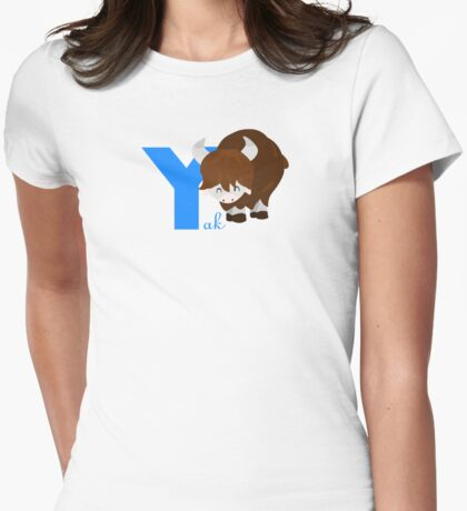 y for yak Womens Fitted T-Shirt